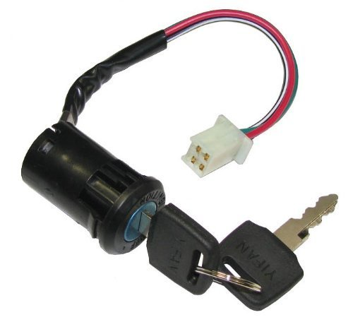 Poweka Ignition Switch with Key for 50cc 70cc 90cc 110cc 150cc 200cc 250cc Chinese ATV Quad
