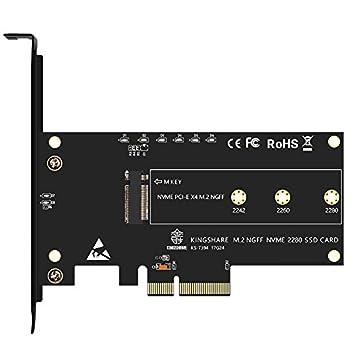 REFURBISHHOUSE PCI-Expreso PCI-E 3.0 X4 a M.2 NGFF M Tarjeta Adaptador conversor de Ranura de Llave M2 Nvme PCIE SSD Tarjeta de Conversion para ...