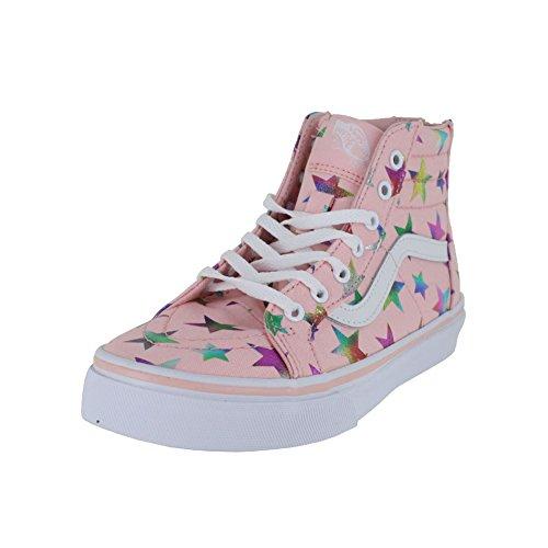 Vans Kids K SK8-HI Zip Foil Stars Pink Size 12 by Vans