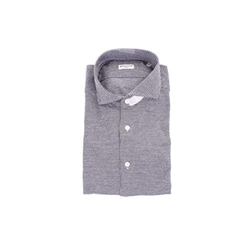 Bagutta Men's Siena08510grey Grey Cotton Shirt