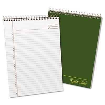 (Gold Fibre Wirebound Legal Pad, 9-1/2 x 7-1/4, White, Green Cover,)