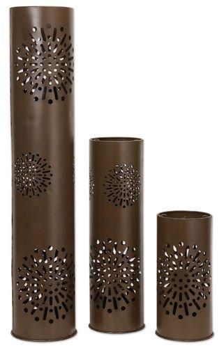 Starburst Hurricane Pillar Candle Holders, 3-Piece Set by Sunset Vista Designs