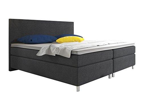 boxspringbett berlin hotelbett amerikanisches bett designerbett 180x200 cm webstoff schwarz. Black Bedroom Furniture Sets. Home Design Ideas
