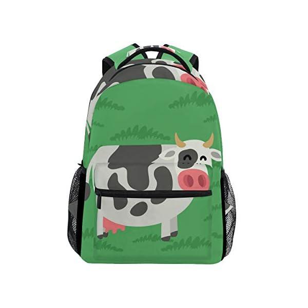 DXG1 Zaino Donna Uomini Ragazzo Ragazzo Scuola Borsa Verde Mucca Libro Daypack Viaggio College Spalla Grande Capacità 40… 1 spesavip