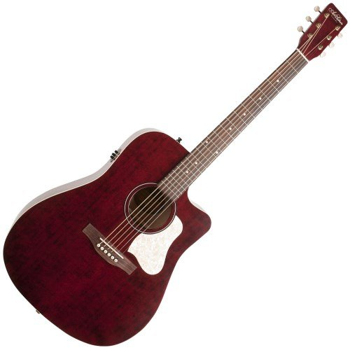 Art Wood Series Acoustic Guitar - Art & Lutherie Americana Series CW QIT Acoustic-Electric Guitar Tennessee Red