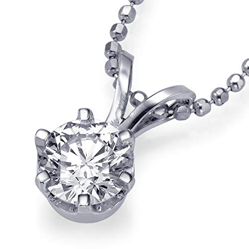 Christmas Gift Sale Real Natural 0.42 ct D VS2 Diamond Pendant Chain Necklace Solitaire Solid 14k White Gold Slider 27749013 from Rothem Collection