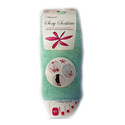 Foot Petals Sexy Socklette Toeless Spa Pedicure Socks (One Pair)
