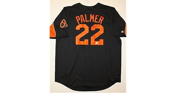 best service f0219 79c66 Jim Palmer HOF Autographed Black Baltimore Orioles Jersey ...