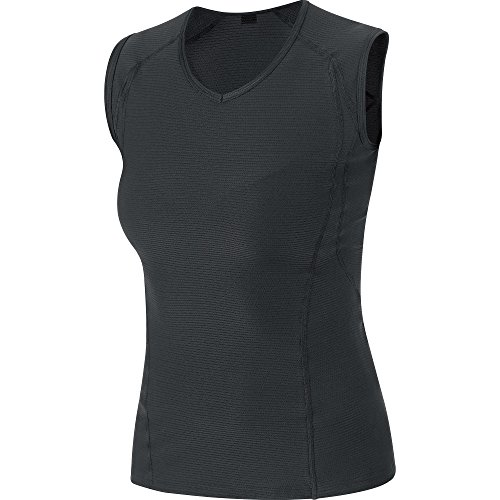 Funcional Camiseta negro Bike Gore Negro Sin Mujer Para Ciclismo De Base Lady Wear Layer Mangas w4XZW6YqZ