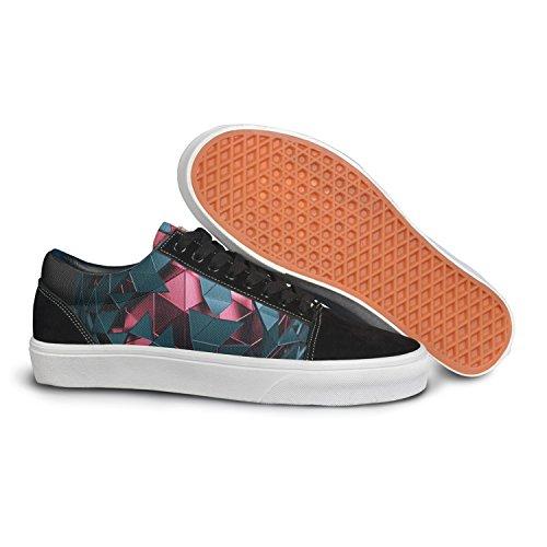 VCERTHDF Print Trendy Digital Art 3d Stylish Low Top Canvas Sneakers