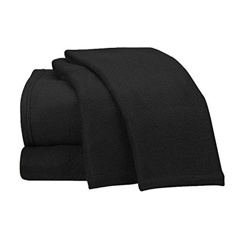 Fancy Collection Super Soft 4 Pc Sheet Set Micro Polar Fleece Bed Sheet Set, Full Size, Black New