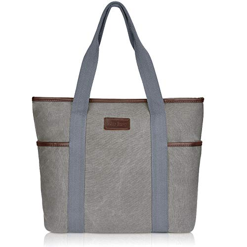 (Canvas Tote Bag for Women,Sunny Snowy Large Tote Bags,Work School Shoulder Bag,8002,Gray)