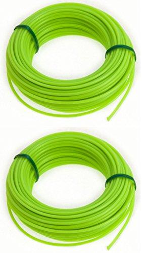 30 METRE STRIMMER CORD LINE TOUGH NYLON 2mm DIAMETER WIRE. 2 X 15m PACKS. Green Jem