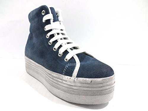 scarpe donna JC PLAY by JEFFREY CAMPBELL 41 sneakers blu camoscio AY803