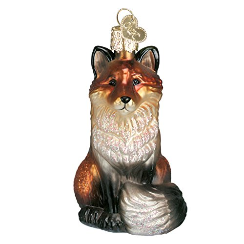 Old World Christmas Ornaments: Fox Glass Blown Ornaments for Christmas Tree