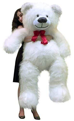 2f67bacffa0 Amazon.com  Big Plush 5 Foot Big Valentines Day Giant White Teddy Bear 60 Inch  Soft Made in USA  Toys   Games