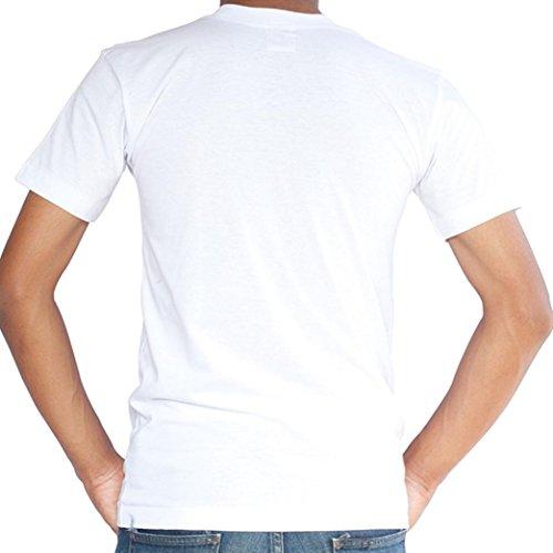 f8757a4262ffa De bajo costo Camisetas Blancas Hombre Manga Corto LHWY