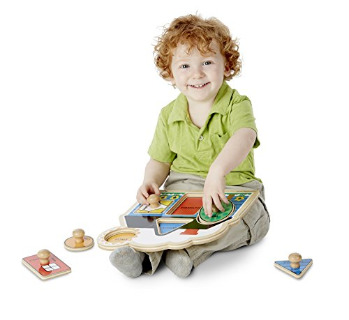 Melissa & Doug First Shapes Jumbo Knob Wooden Puzzle