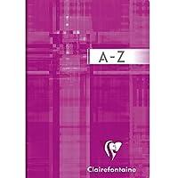 ClaireFontaine - Réf 63599AMZC - Répertoire Alphabétique 9x14 cm 96 Pages Petits Carreaux Coloris Aléatoire - Lot de 2