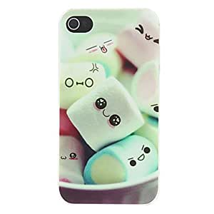 get Lovely Cartoon Marshmallow Pattern Matte Designed PC Hard Case for iPhone 4/4S