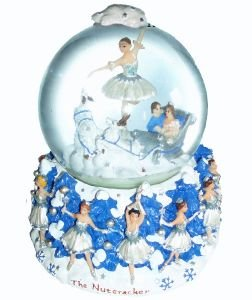 Ballerina Globe - Nutcracker Ballet Gifts Snow Scene Musical Snowglobe Plays Dance of the Snowflakes by Tchaikovsky