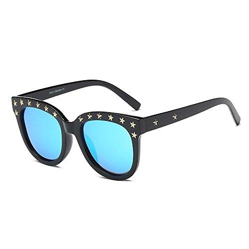 de de de Protección irrompible para Gafas Personalidad Gaf Gafas sol Hombre Star Gafas Para mujer negro Viajar Retro sol Eyewear borde con Lady's Rivet Unisex polarizadas UV Marco Classic sol Azul conducir wYIPnBqq