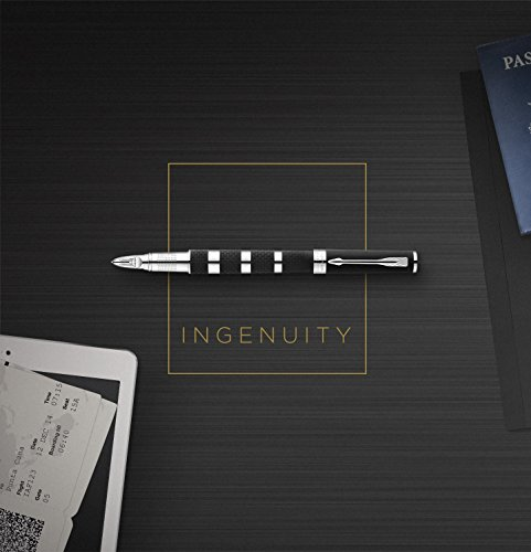 PARKER Ingenuity 5th Technology Pen, Deluxe Black Red, Medium Point with Black Ink Refill by Parker (Image #9)