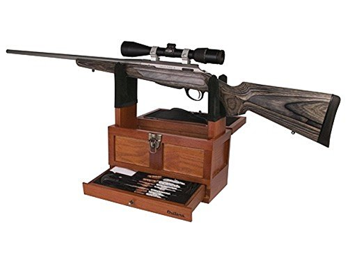 Outers 70084 25 - Piece Universal Wood Gun Cleaning Tool Chest (.22 Caliber and up)
