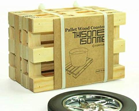 1 Set of Mini Wood Pallets Coasters (4pcs)