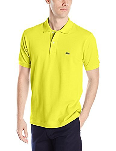 Lacoste Men's Short Sleeve Pique L.12.12 Original Fit Polo Shirt, Spin Yellow, 8/3XL by Lacoste