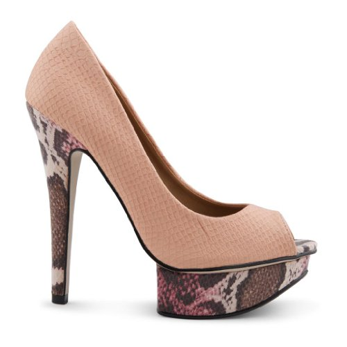Dolcis - punta abierta de sintético mujer rosa - beige
