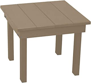 product image for Outdoor Hampton End Table - Weathered Wood Poly Lumber - Recycled Plastic