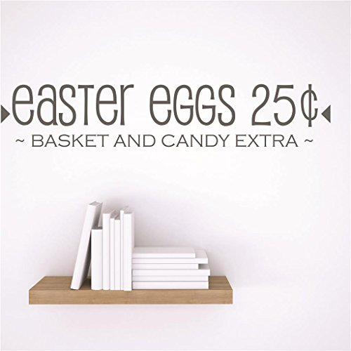 Discounted Sticker Decal : easter eggs 25¢ ~BASKET AND CAND