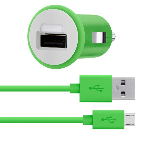 Belkin MiXiT Car Charger + Micro USB Cable for Amazon Fire Phone, all Kindle, Kindle Fire and Kindle Paperwhite Models, 4 Feet (Green)