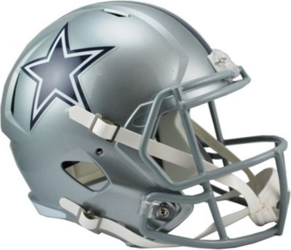Dallas Cowboys Youth Uniform - Riddell RIDDRSPDAL NFL Dallas Cowboys Full Size Replica Speed Helmet, Medium, Silver