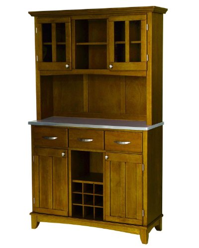 Home Styles Buffet with Hutch in Oak Finish