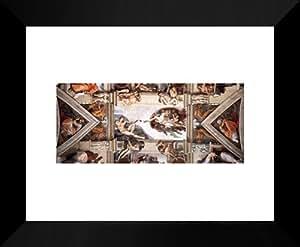 Lámpara de techo de la Capilla Sixtina [detalle] 20 x 24 cuadro de Metallica de Miguel Ángel