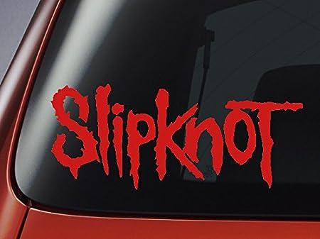 vinyl decal slipknot logo red car window wall laptop sticker