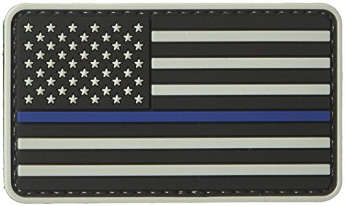 5ive Star Gear US Flag Morale Patch with Blue Stripe, Grey/Blue, One Size