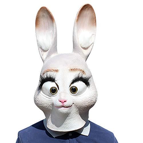 Novelty Halloween Costume Party Props Madness Animal City Rabbit Judy Headgear Latex Mask