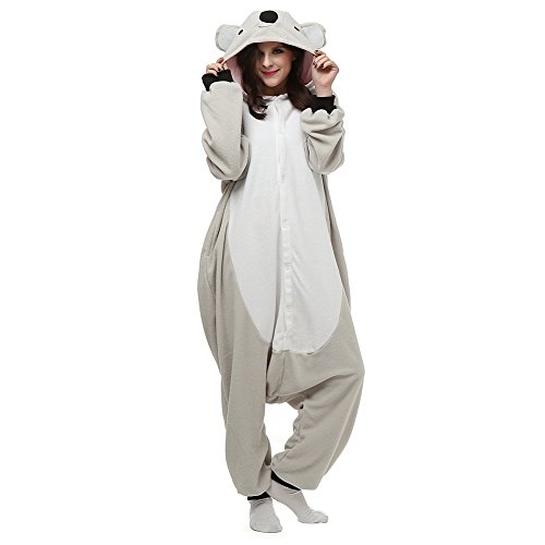 ElfZ Adult Animal Onesie Pajamas Cosplay Costume Unisex One Piece Pajamas (Medium/Large, Koala)