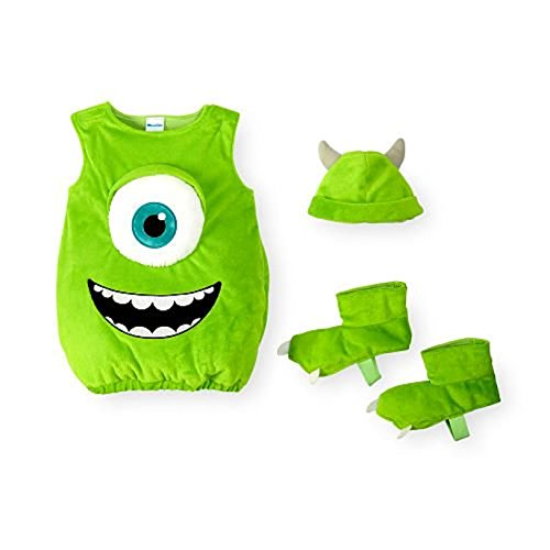 Monster's Inc. Disney's Baby Boys Girls Mike Wazowski Dress Up Costume (9-12 (Sully Monster Costume)