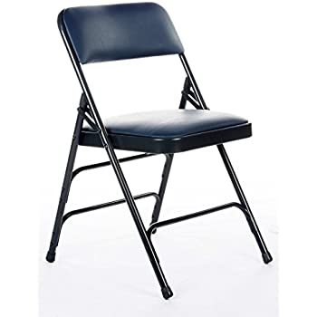 Amazon Com Commercial Vinyl Padded Folding Chair Triple