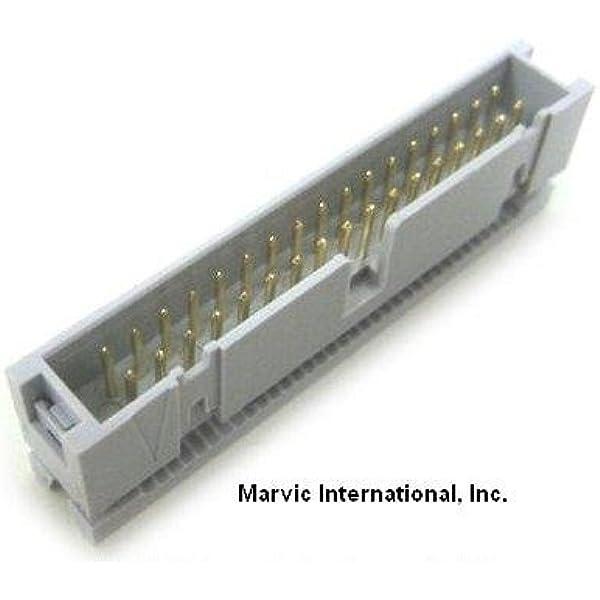 2 Pcs 34 Pin 2.54mm Dual Row IDC Connector Female Header Free Socket