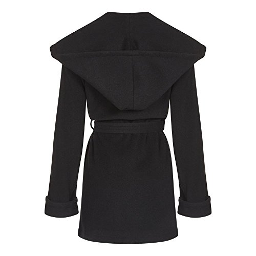 Coat Women`s Cashmere Winter Anastasia Noir Wool Wrap gAfAWc