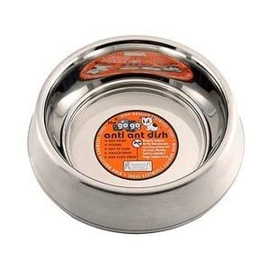 GoGo Pet Products Stainless Steel Anti-Ant Pet Dog Bowl, 24-Ounce 54