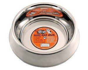 GoGo Pet Products Stainless Steel Anti-Ant Pet Dog Bowl, 32-Ounce