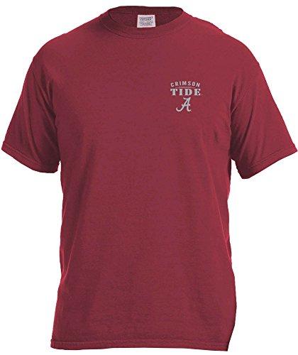 NCAA Alabama Crimson Tide Adult NCAA Limited Edition Comfort Color Short sleeve T-Shirt,Small,Chili