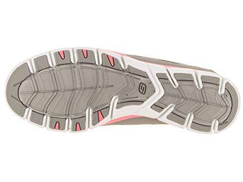 Skechers Sport Dames Gratis Bungee Fashion Sneaker Grijs / Roze