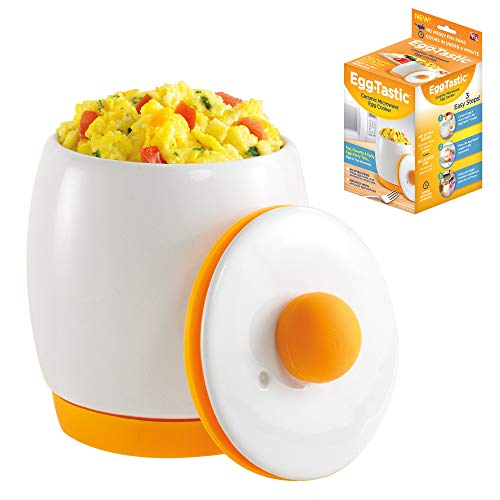 Egg-Tastic Ceramic Microwave Egg Cooker and Poacher for Fast